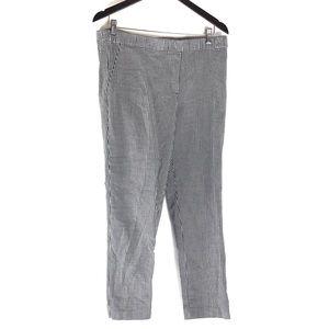 J Jill Gingham Stretch Cropped Capri Pants